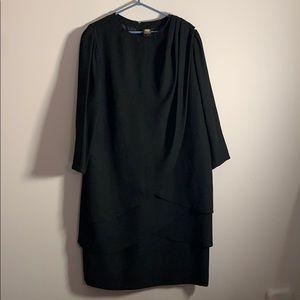 Vintage Golden Gate Plus Sized Layered Black Dress